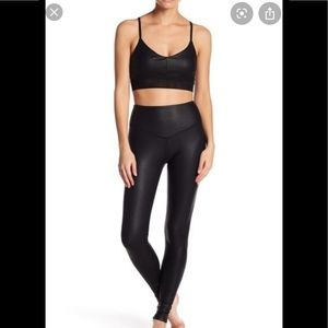 Electric yoga cobra coated set (bra and leggings)